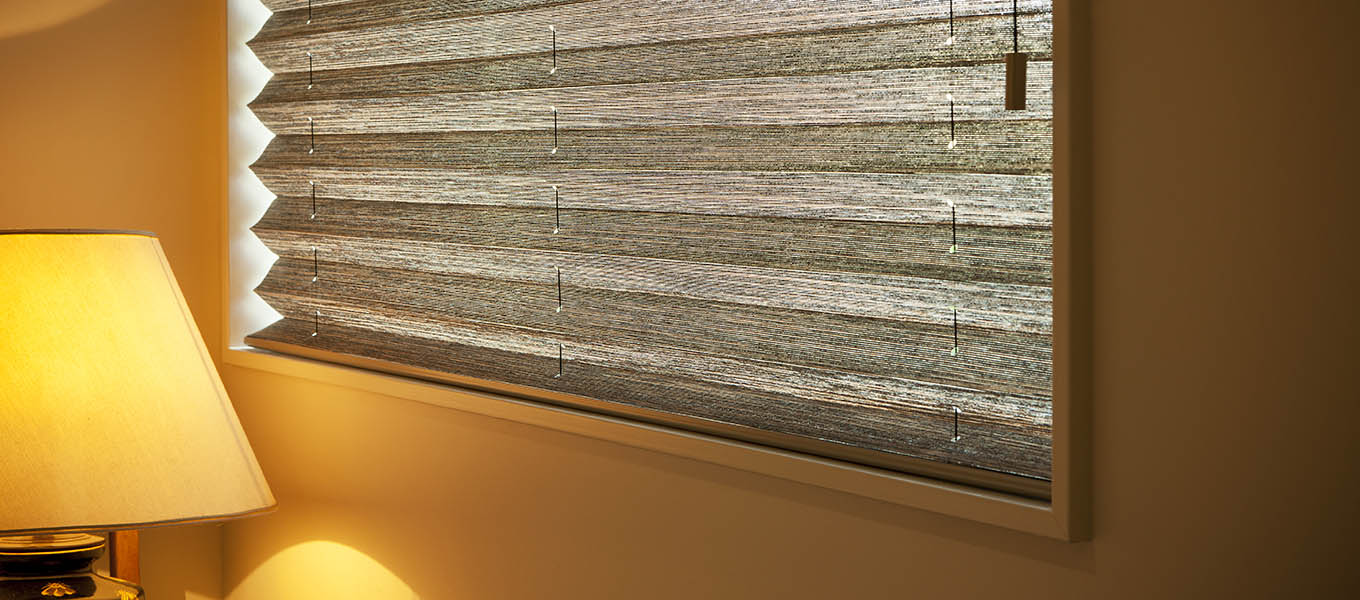 translucent pleated blinds